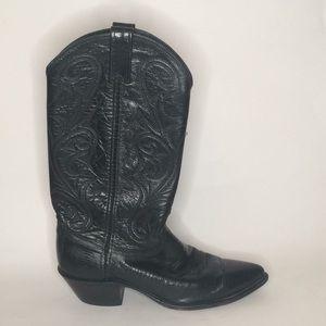 Dan Post Leather lizard horsemen cowboy boots 8.5